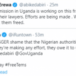 The Nigerian mission in Uganda is doing everything to get Omah Lay and Tems free – Abike Dabiri-Erewa