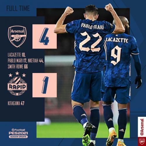 Arsenal vs Rapid Vienna 4-1 Goals Highlights (Video) Mp4 Download