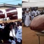 SHOCKING!!! Slay Queen Buried In A P!nis-Shaped Coffin In Ghana (PHOTOS)