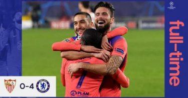 VIDEO: Sevilla Vs Chelsea 0-4 Goals Highlights