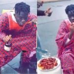 Nigeria Man Seen On The Streets Of UK Brushing His Teeth With Hennessey