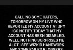Tunde Ednut calls out Wizkid, threaten others who reported his Instagram account