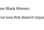 Black women, you deserve love that doesn?t require suffering first ? BBN?s Mike Edwards