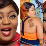 Actress, Eniola Badmus, others react to Bobrisky's gift to a fan who tattooed his face on her body