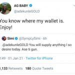 Nigerian music couple, Adekunle Gold and Simi Romance On Twitter