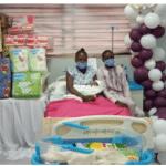 Sanwo-Olu visits first baby born in Lagos 2021