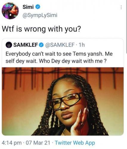 """Most ungrateful soul on this planet, ode"" - Samklef lambast Simi (Audio)"