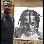 Rema rewards artist who spent over 100 hours sketching a portrait of him (Photos)