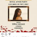 Tiwa Savage set to host Coming to America 2 royal after party tonight (Photo)
